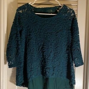 Green-laced dressy shirt
